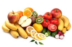 Ulike frukter med fruktsukker og gode mineraler