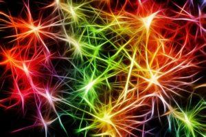 Nevron nettverk i lysende farger