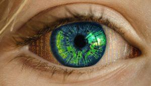 Epstein Barr virus reflektert i ett øye